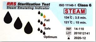 نشانگر شیمیایی بخار تایپ ۶ (۱۱۰-۱۴ RRS) بعد از قرار گرفتن در اتوکلاو بخار
